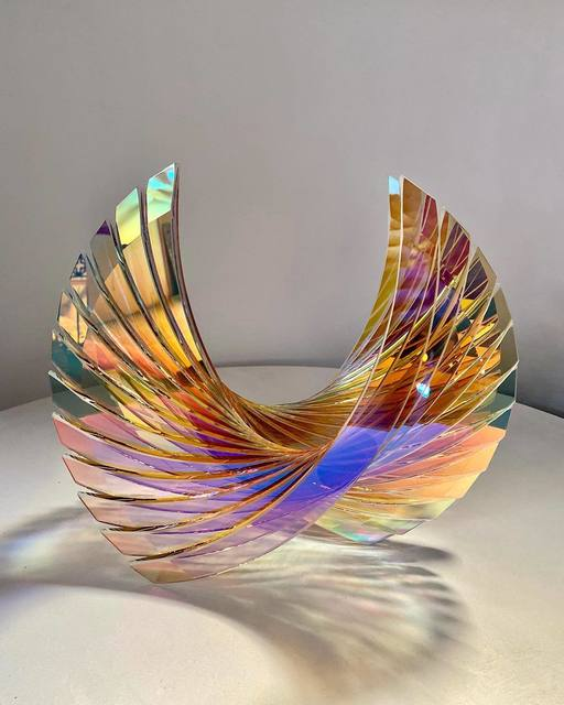 Tom Marosz, 'Baby Wings', 2020, Sculpture, Float glass, cut, grounded, sandblasted, air brushed and laminated, Avran Fine Art