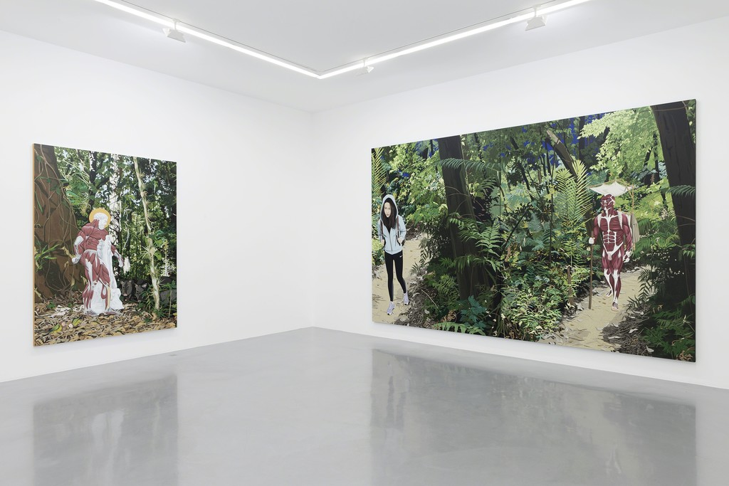 "View of the exhibition Chen Fei ""Fine Art"" at Perrotin Paris