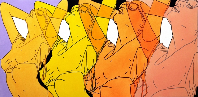 Hilary Bond, 'Pink, Orange, Yellow, Gold', 2015, Artspace Warehouse