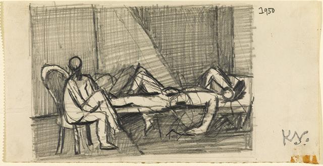 , 'Study for `Theseus and the Minotaur',' 1950, Osborne Samuel