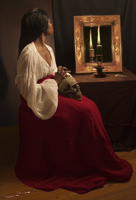 , 'Ode to de La Tour's Penitent Magdalen,' 2012, Jonathan Ferrara Gallery