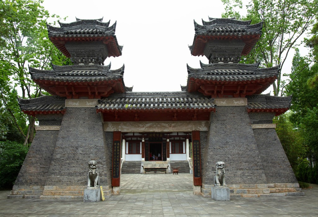 Source material: The gate of Zhang Qian in Hanzhong, Shaanxi, China