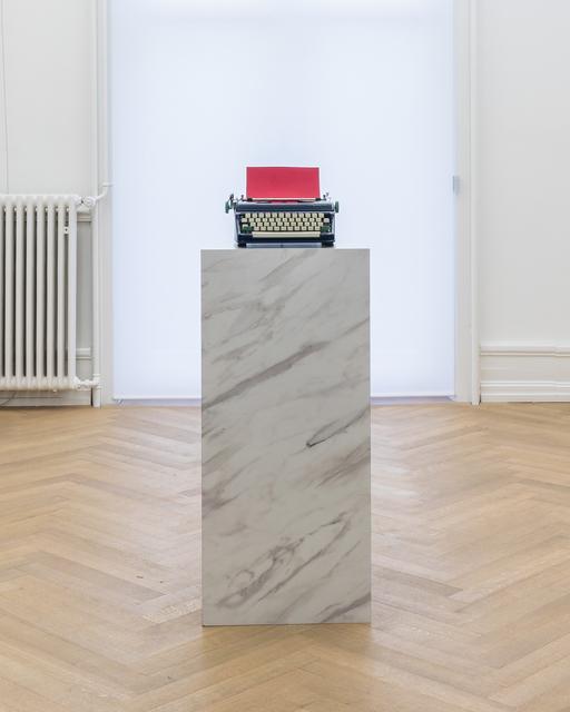Jorge Méndez Blake, 'Pause II (Red)', 2019, Sculpture, Typewriter, marble, Mai 36 Galerie