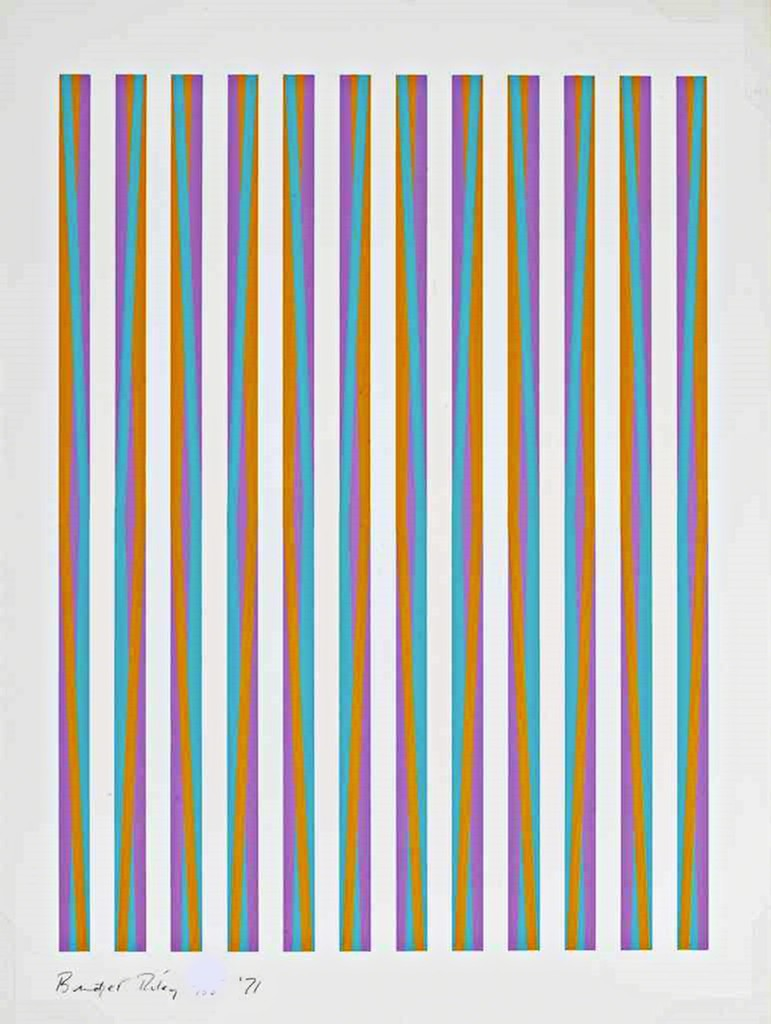 Op art uses color to create - Bridget Riley Op Art