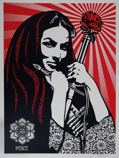 Shepard Fairey, 'Revolutionary Woman With Brush', 2007, Chiswick Auctions