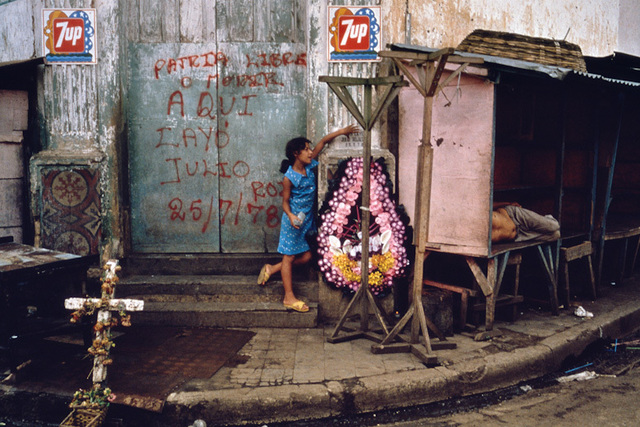 , 'Memorial honoring student martyrs who were killed in the attack on the market.  Juigalpa, Nicaragua,' 1978, The Photographers' Gallery