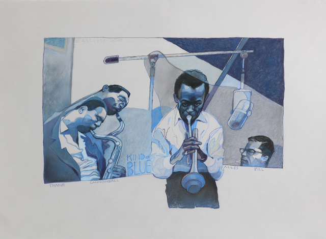 , 'Kind of Blue ,' 2018, Moberg Gallery