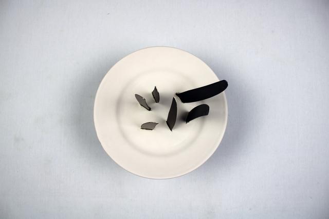 Loredana Longo, 'I would like to be like a blade', 2020, Sculpture, Earthenware, old steel knives, Officine Saffi