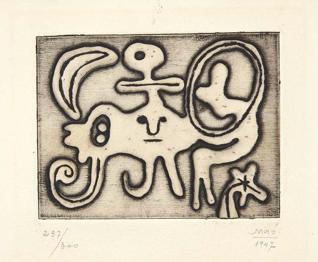 Joan Miró, 'Femme et Oiseau devant la Lune, from Laurels Number One', 1947, Christie's