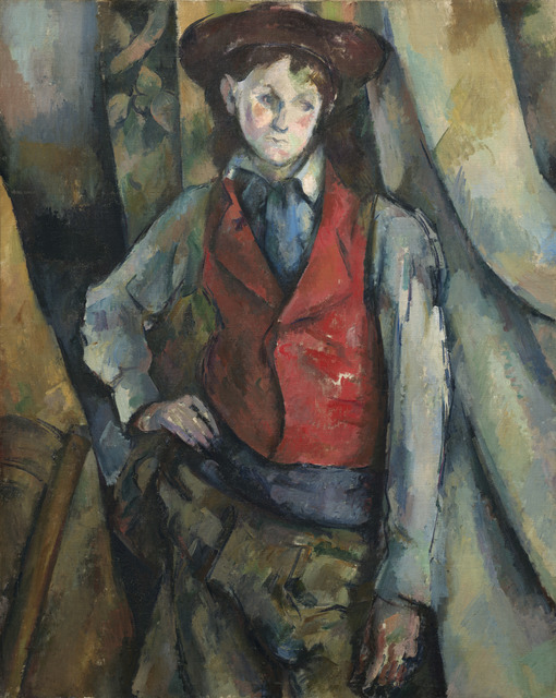 Paul Cézanne, 'Boy in a Red Waistcoat', 1888-1890, National Gallery of Art, Washington, D.C.