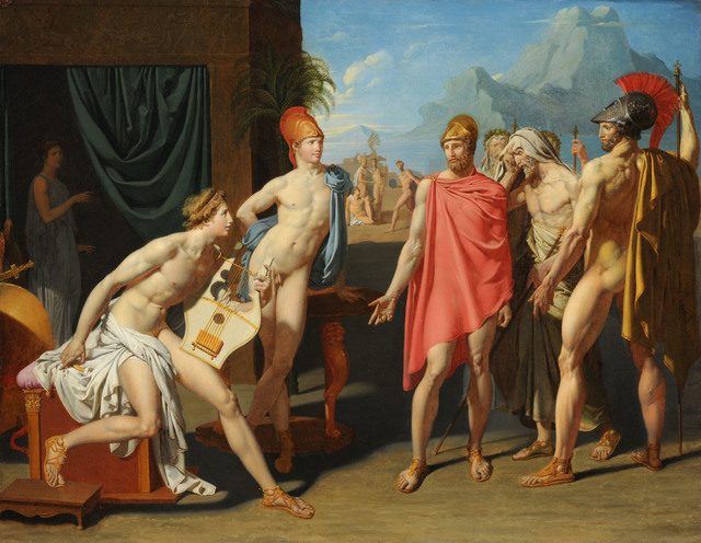 Jean-Auguste-Dominique Ingres, 'Achilles Receiving the Ambassadors of Agamemnon', 1801, American Federation of Arts