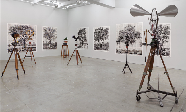William Kentridge: Second-hand Reading, Installation View, Marian Goodman Gallery, New York, September 17 - October 26, 2013