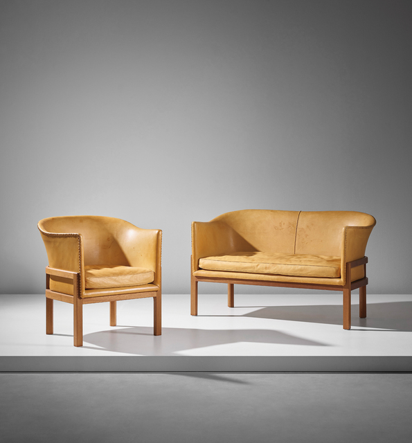 Mogens Koch, 'Two-seater sofa, model no. MK52, and armchair, model no. MK51', designed 1936-executed after 1951, Phillips