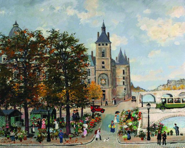 , 'Marche aux fleurs et la conciergerie ,' , Hugo Galerie