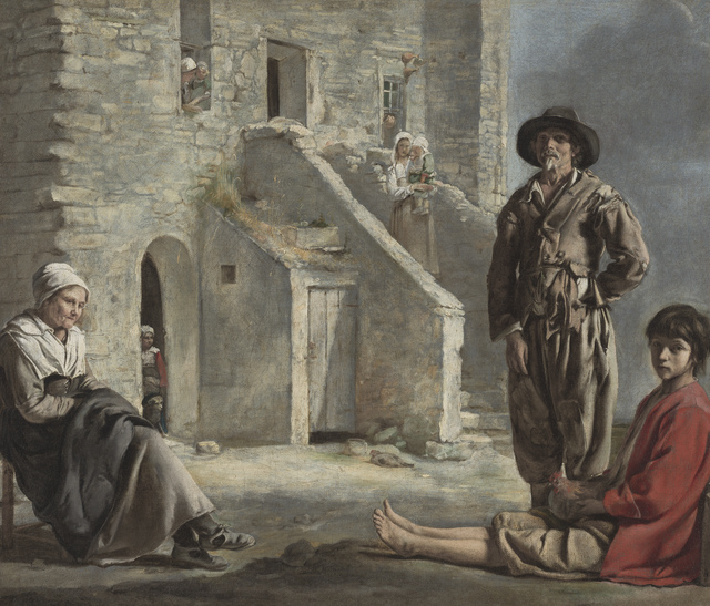 , 'Peasants before a House,' ca. 1640, Legion of Honor