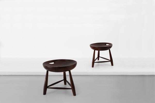 ", 'Pair of stools model ""Mocho"",' 1954, Side Gallery"