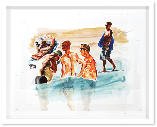 , 'Untitled (Men in Water),' 2018, Hexton Gallery