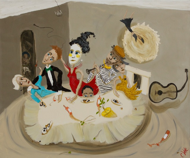 Chris Wake, 'The musicians ', 2013, Painting, Oil and Acrylic on Linen, Wentworth Galleries