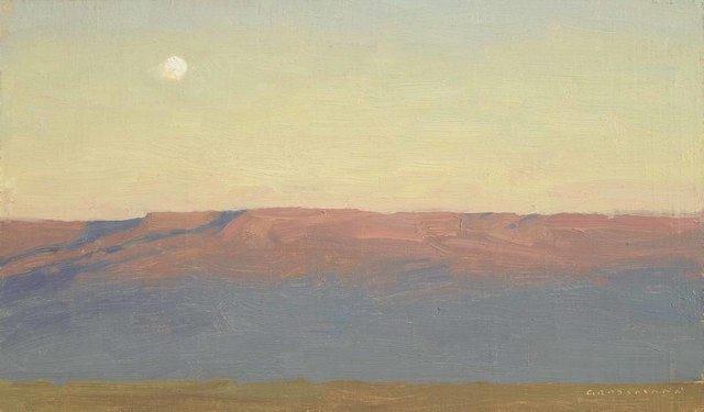 , 'Moon and Mesa At Sunset,' 2018, Jonathan Cooper