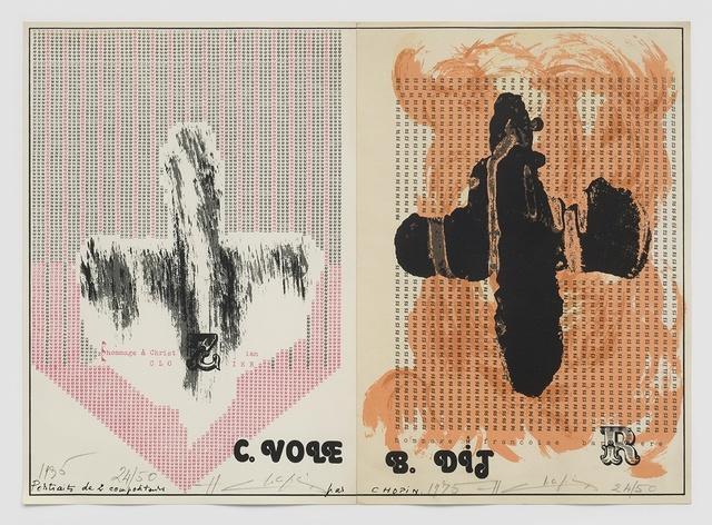 , 'Portraits de 2 compositeurs - hommage à Christian Clozier et Françoise Barrière,' 1975, Richard Saltoun