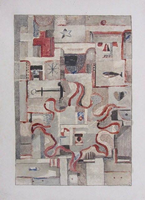 Carmelo de Arzadun, 'Untitled', 1935, Drawing, Collage or other Work on Paper, Mixed technique on paper, Galería de las Misiones