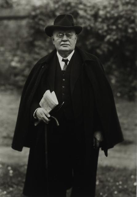 August Sander, 'Publisher, 1924', Galerie Julian Sander