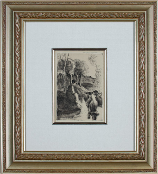 , 'Vachere Au Bord de L'eau Delteil 93,' 1890, David Barnett Gallery