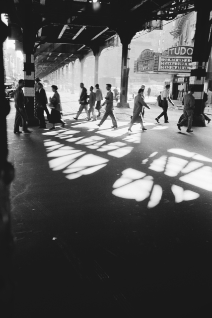 Werner Bischof, 'Pedestrians beneath elevated train track, New York, USA', 1953, David Hill Gallery