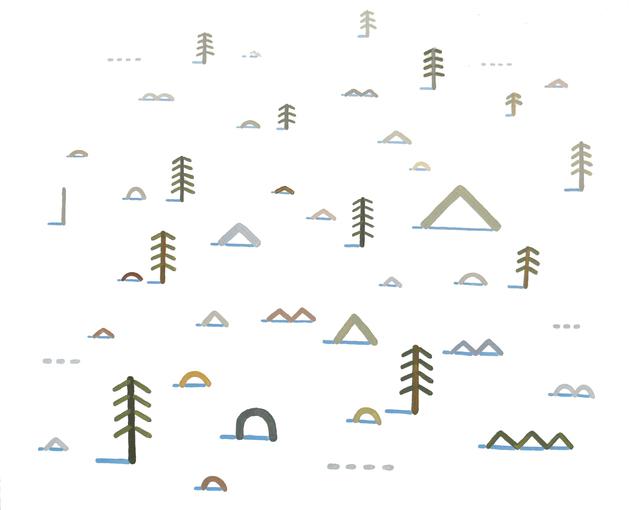 , 'Snowy Field,' 2014, G. Gibson Gallery