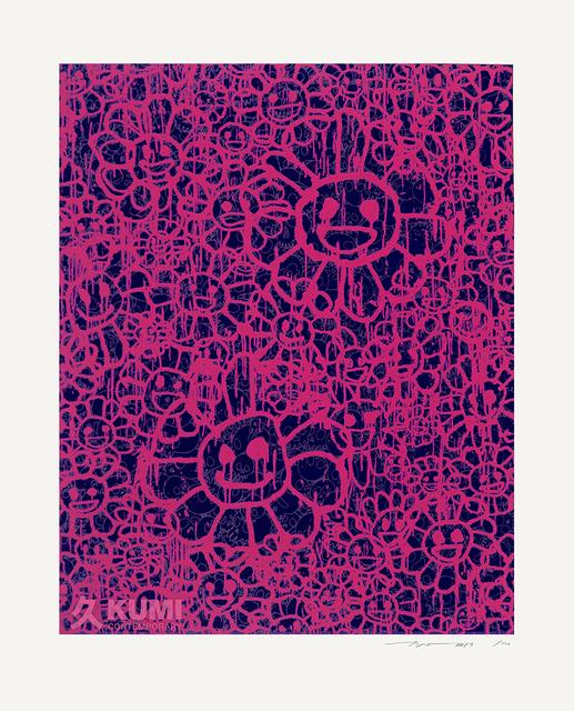Takashi Murakami, 'Murakami x MADSAKI Flowers Pink Black B', 2017, Kumi Contemporary / Verso Contemporary
