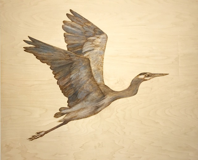 Alexandra Bowers, 'The Great Blue Heron II', 2019, {9} The Gallery