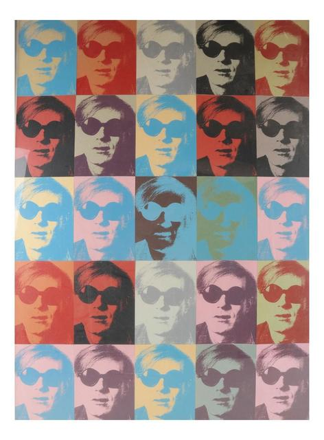 """Andy Warhol, 'Twenty-Five Small Silkscreens,  ca. 1970's, Ex. Jacob Baal-Teshuva Collection (art critic), Card Stock,  3"""" x 5""""in. (each), Assembled  in Collage Form.', ca. 1970, VINCE fine arts/ephemera"""