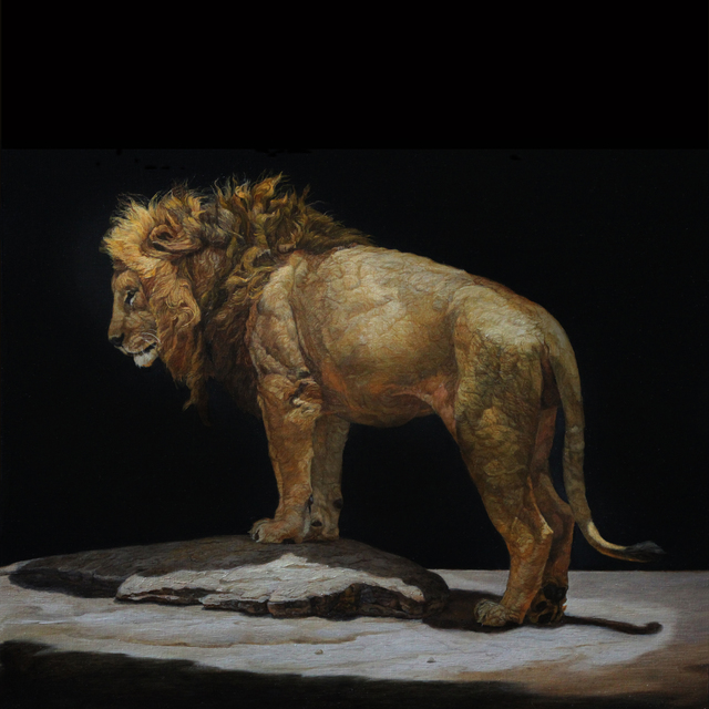 , 'Lion Standing on a Kopjes,' 2019, Gallery Henoch