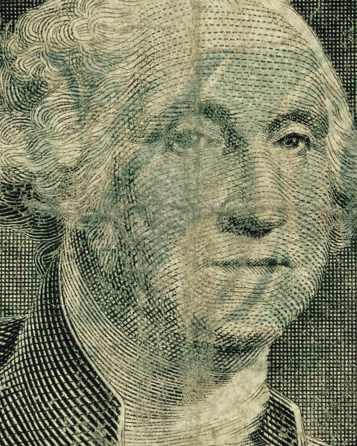 , 'One US Dollar – Washington (from the Face of Money Series),' 2014, Cynthia Corbett Gallery