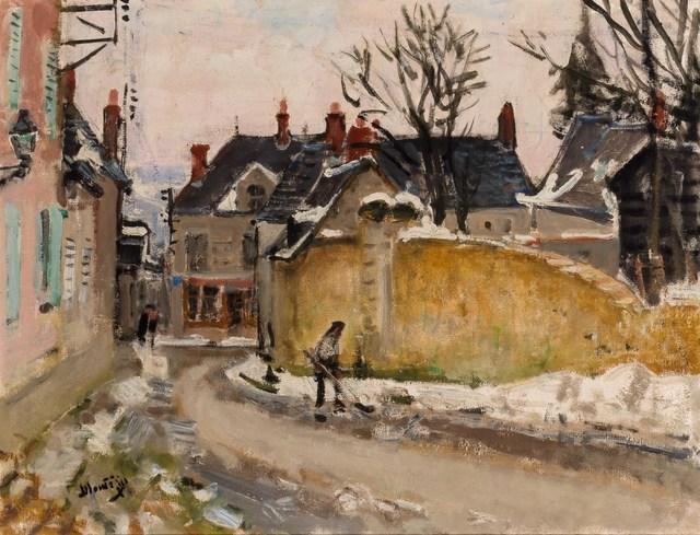 Pierre Montézin, 'Rue de Village sous la Neige', Doyle