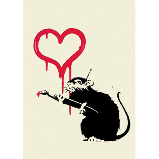 Banksy, 'Love Rat (unsigned)', 2004, Lougher Contemporary