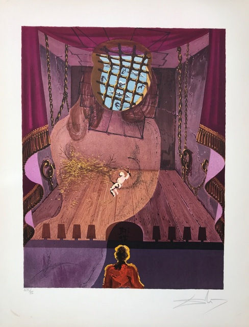 Salvador Dalí, 'The Prison', 1969, Drawing, Collage or other Work on Paper, Lithograph, Dali Paris