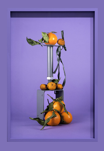 ", '""Citrus and green metal on purple"",' 2016, Temnikova & Kasela"