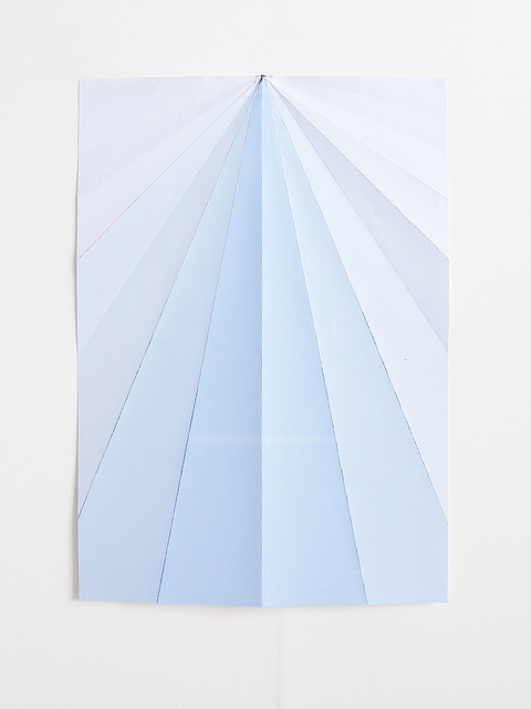 Caline Aoun, 'Blue Paperplane', 2015, Grey Noise