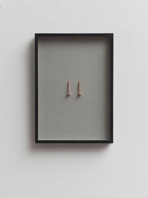 , 'Untitled (Screw, unscrew),' 2016, Dvir Gallery