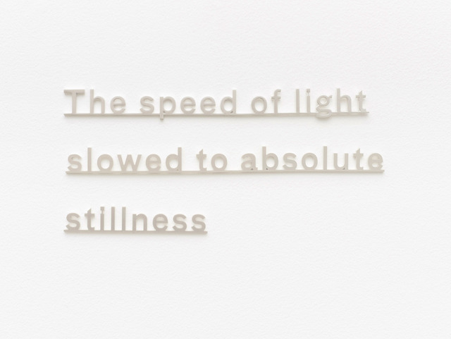 , 'Ideas (The speed of light slowed to absolute stillness),' 2016, James Cohan