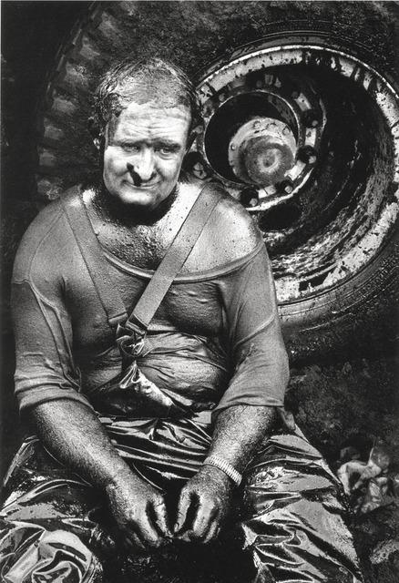 , 'Worker resting, Covered in oil, Oil wells, Kuwait,' 1991, Sundaram Tagore Gallery