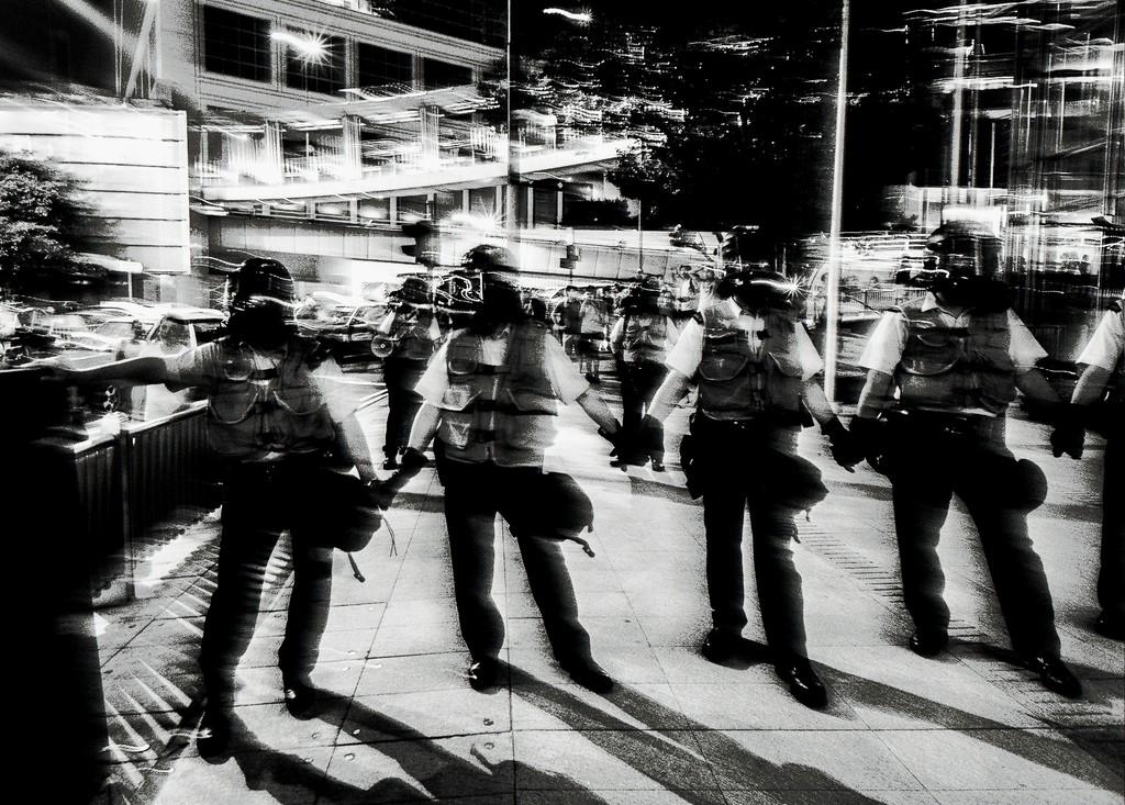 Xyza Bacani Occupy HK 01, 2014 Digital Photography, Black and White 16h x 20w in