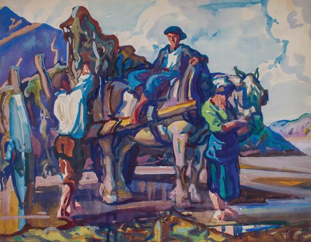 , 'Gathering Kelp, St. Malo, France,' ca. 1926, WOLFS