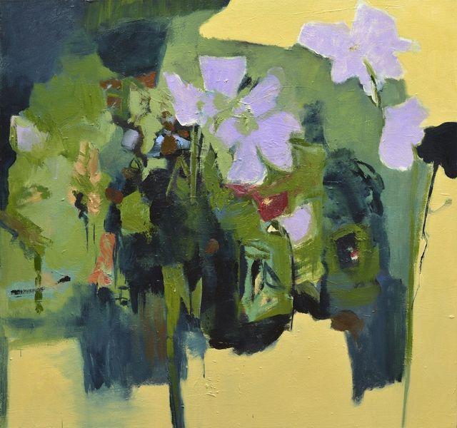 , 'Trois fleurs lilas,' 2015, Galerie de Bellefeuille