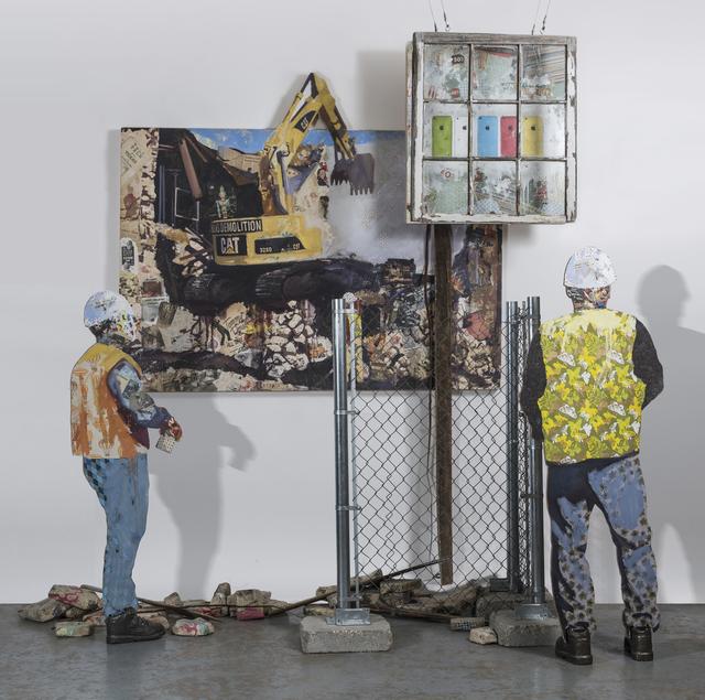 , 'Demolition (Construction Workers),' 2018, Ro2 Art