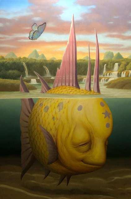 Matt Dangler, 'Transcendental Falls', 2020, Painting, Oil on mounted panel, Haven Gallery