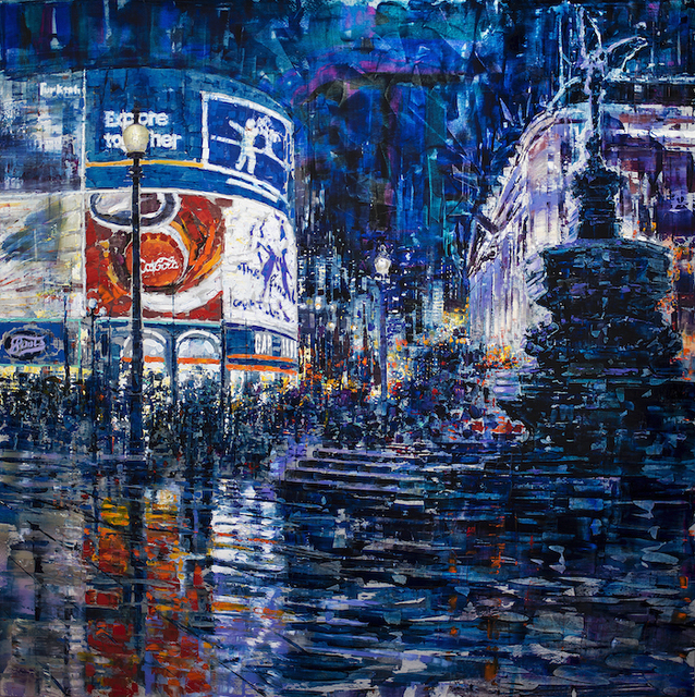 , 'Piccadilly Circus,' 2019, Liquid art system