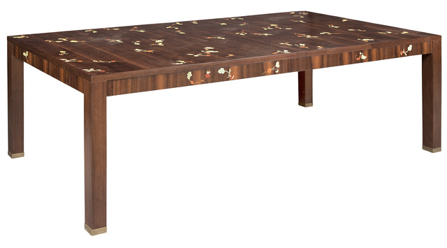 'Louis Cane Inlaid Fruitwood Extension Dining Table', 2000, Design/Decorative Art, Doyle