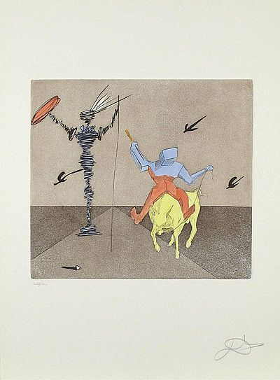 Salvador Dalí, 'Master and Squire Etching on Paper Contemporary Art', 1981, Modern Artifact
